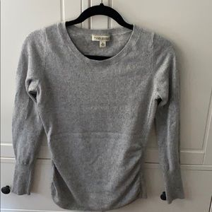 Banana Republic silver and gray wool sweater